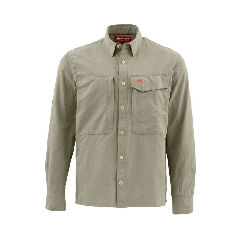 SIMMS GUIDE LS SHIRT DARK KHAKI