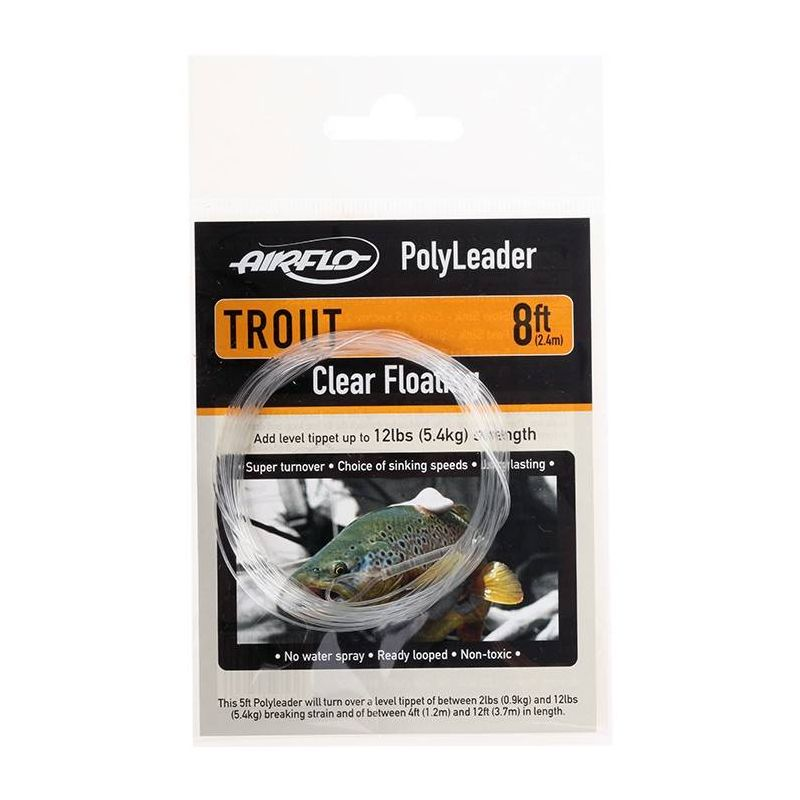 POLYLEADER 8FT TROUT (Finale 0,28mm 2.4m) AIRFLO - 1