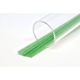 SOFT GLITTER TUBE 3 mm GREEN