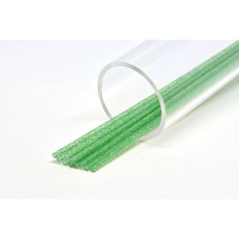 SOFT GLITTER TUBE 3 mm GREEN FUTUREFLY - 1
