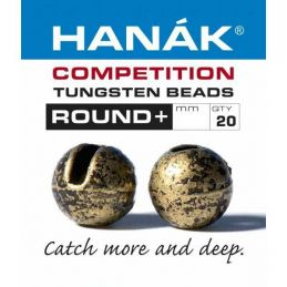 Tungsten Beads Round+ Bronze Relic 20pz