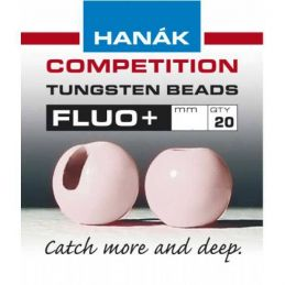 TUNGSTEN BEADS ROUND+ LIGHT PINK 20PZ