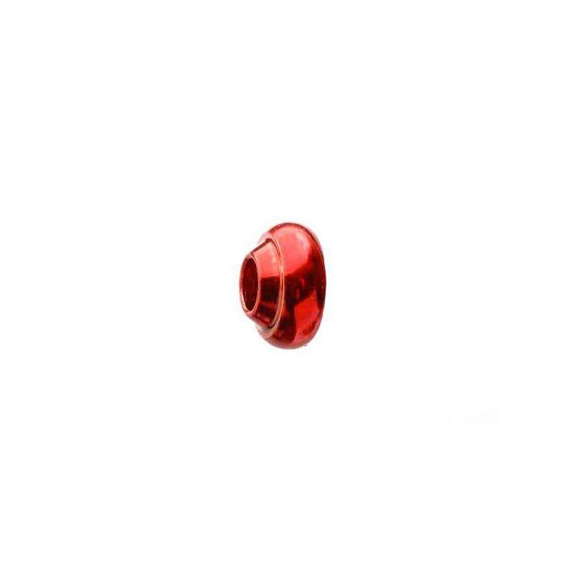 BRASS COLLAR METALLIC RED