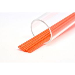 SOFT GLITTER TUBE 3 mm ORANGE
