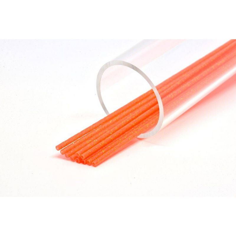 SOFT GLITTER TUBE 3 mm ORANGE FUTUREFLY - 1