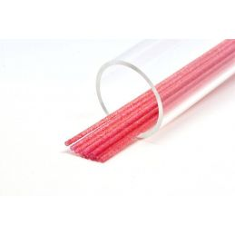 SOFT GLITTER TUBE 3 mm RED