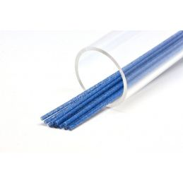 SOFT GLITTER TUBE 3 mm BLUE