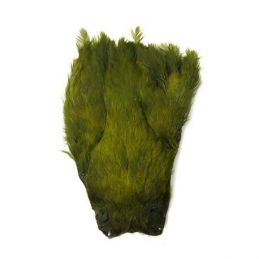 INDIAN HEN CAPE DYED OLIVE