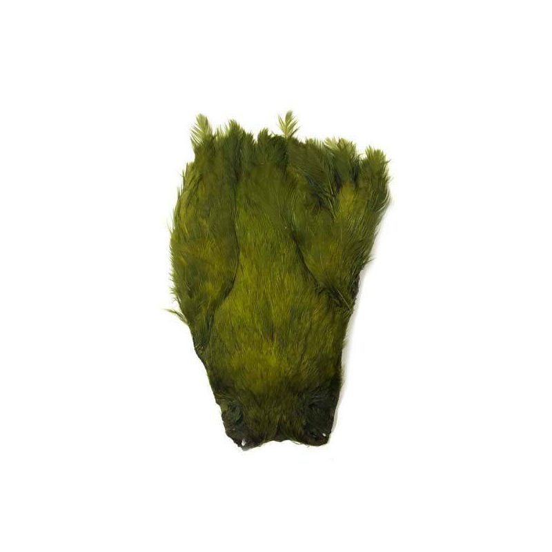 INDIAN HEN CAPE DYED OLIVE VENIARD - 1