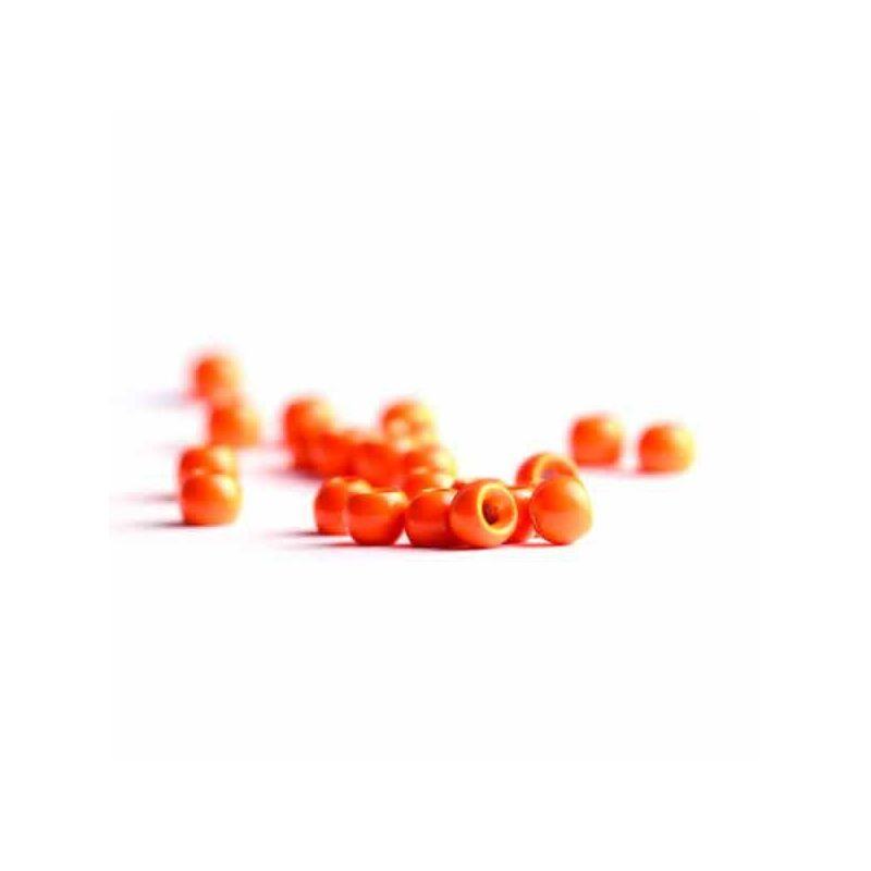 BRASS BEADS FLUO ORANGE
