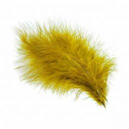 TURKEY MARABOU GOLD OLIVE