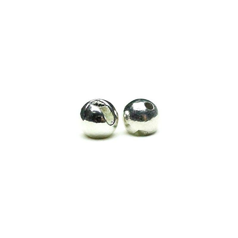 TUNGSTEN BEADS SLOTTED SILVER 20PZ