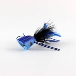 DOUBLE BARREL BASS BUG POPPER BLUE FLYMEN F.C. - 1