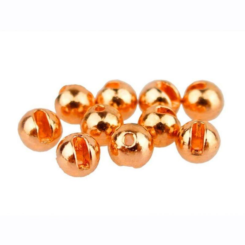 TUNGSTEN BEADS SLOTTED ORANGE ANODIZED 20PZ