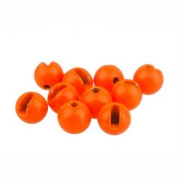 TUNGSTEN BEADS SLOTTED FL. ORANGE 20PZ