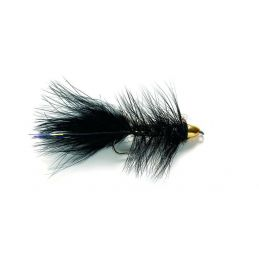BLACK WOOLLY BUGGER TC BARBLESS FULLING MILL - 1