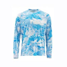 SOLARFLEX LS CREWNECK CLOUD CAMO BLUE