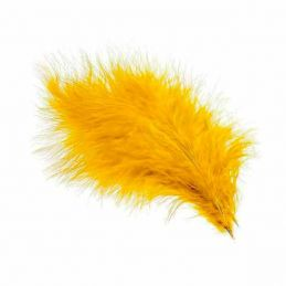 TURKEY MARABOU GOLD YELLOW