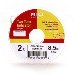 TWO TONE INDICATOR TIPPET - PINK/CHARTREUSE RIO - 1