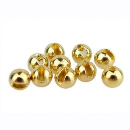 100pz TUNGSTEN BEADS SLOTTED GOLD