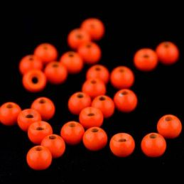 20pz TUNGSTEN BEADS COUNTER FLUO ORANGE FSV - 1